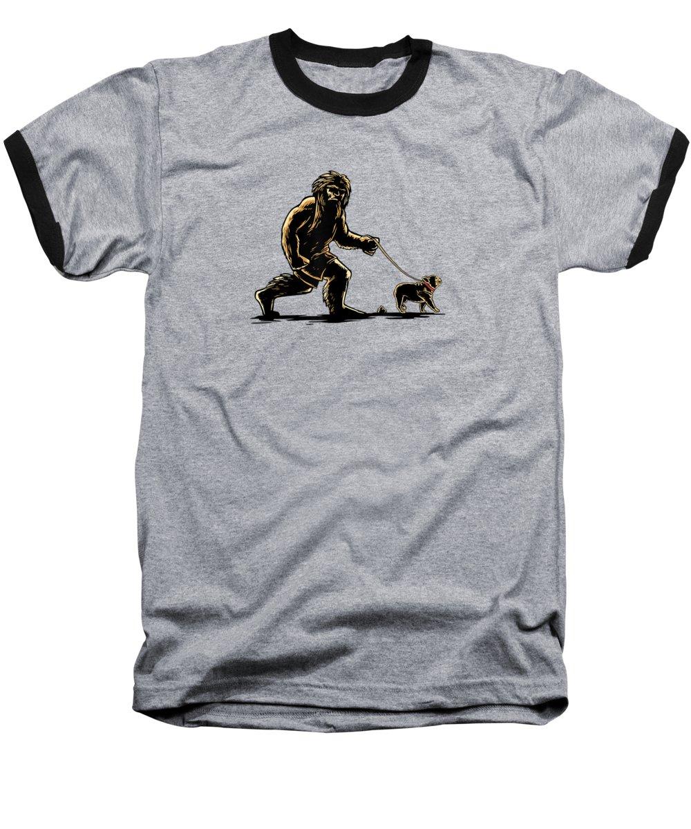 girls' Novelty T-shirts Baseball T-Shirt featuring the digital art Sasquatch Walking French Bulldog T-shirt Frenchie Lovers by Unique Tees