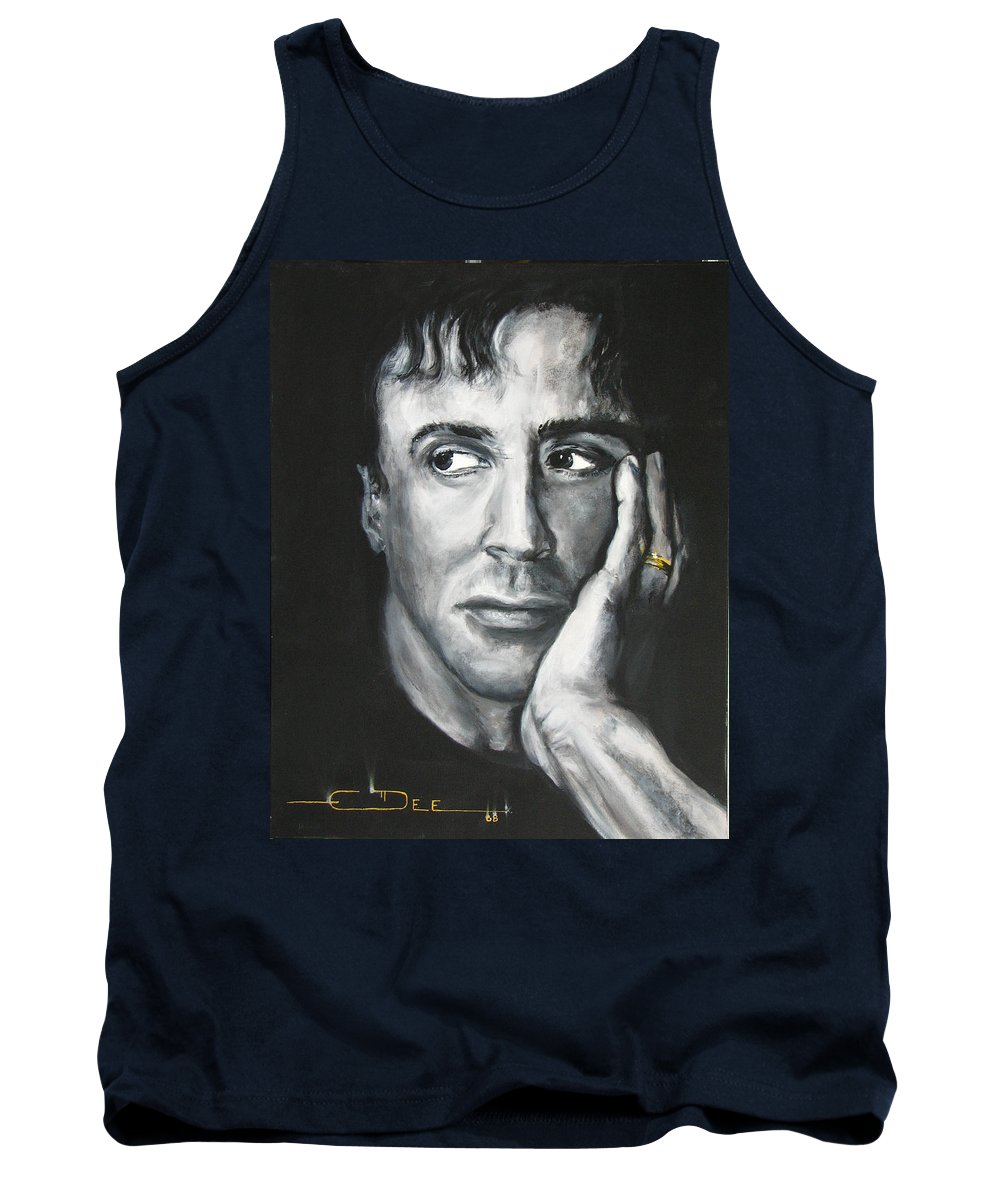 Copland Tank Top featuring the painting Sylvester Stallone by Eric Dee