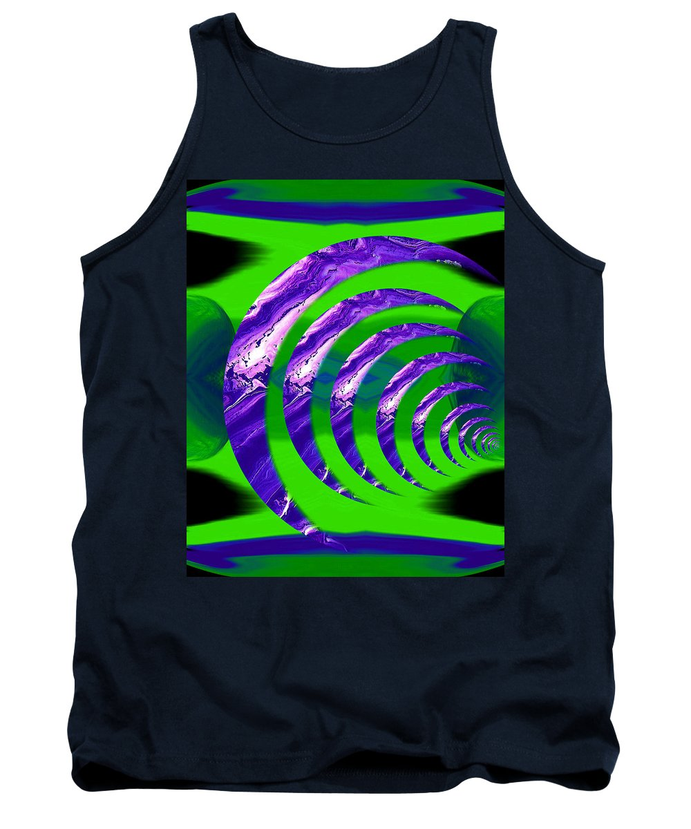 Original Tank Top featuring the painting Abstract 123 by J D Owen