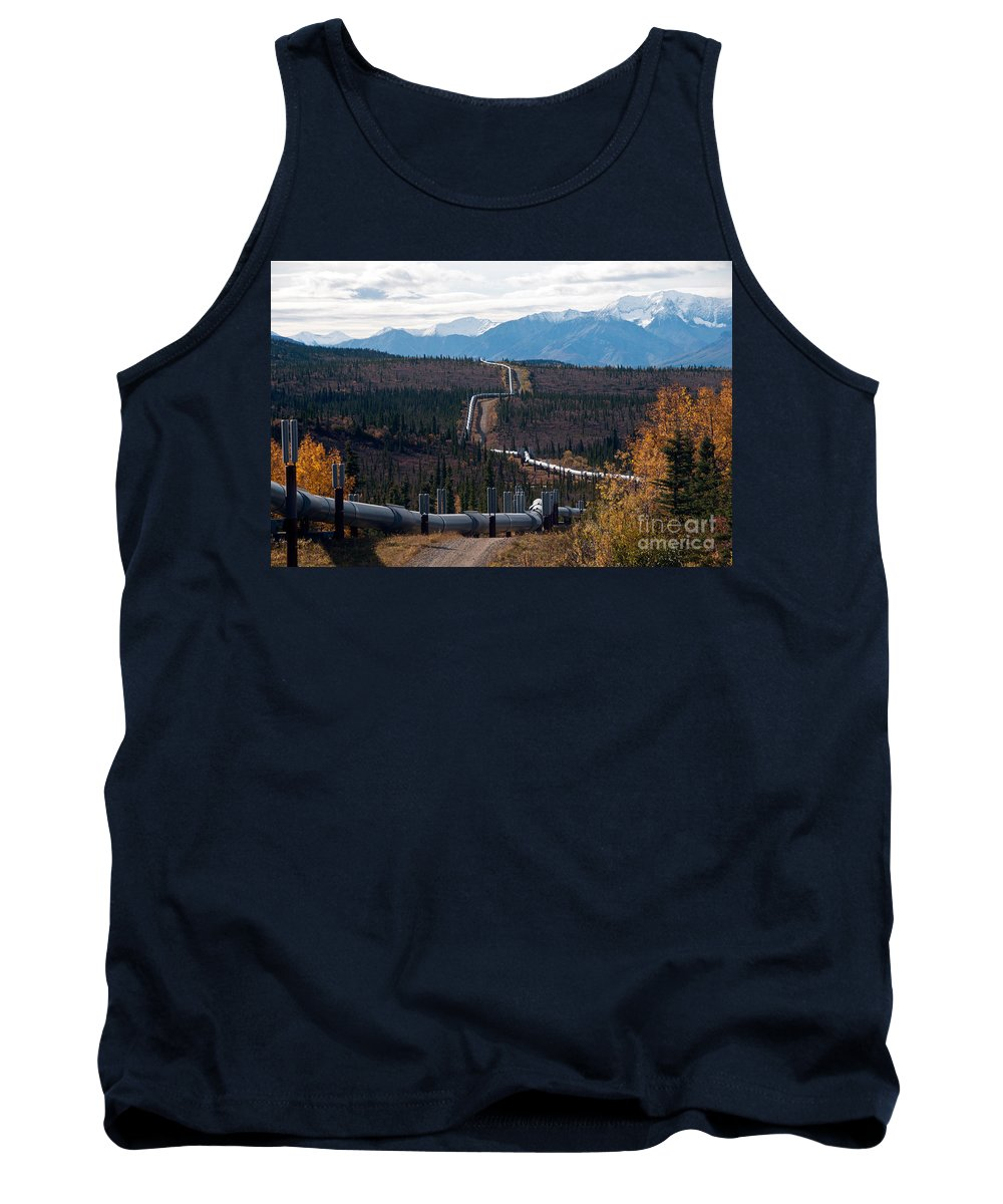 Nature Tank Top featuring the photograph Alaska Oil Pipeline by Mark Newman