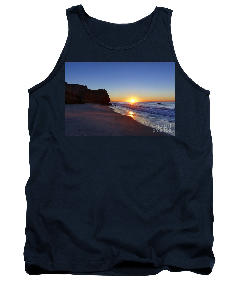 Lucy Vincent Beach Tank Top featuring the photograph Beach Sunrise by John Greim