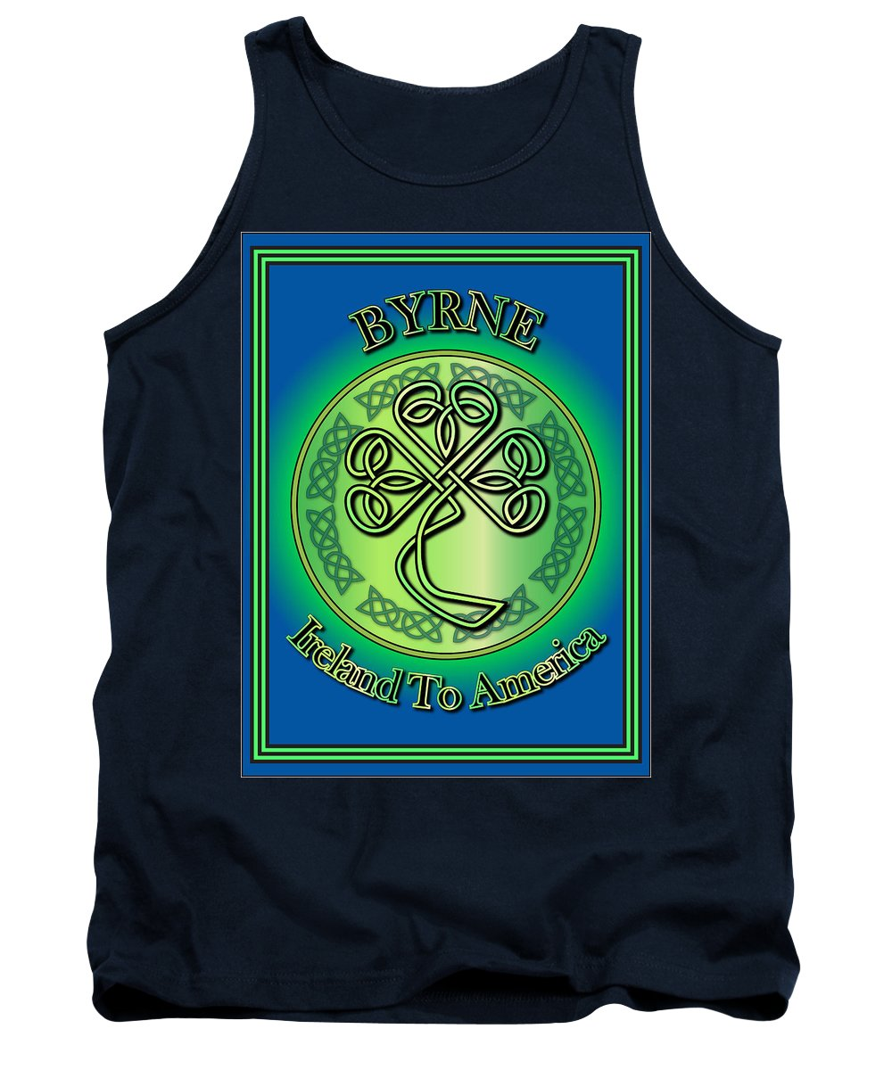 Byrne Tank Top featuring the digital art Byrne Ireland To America by Ireland Calling