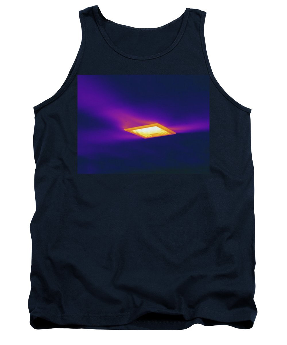 Thermography Tank Top featuring the photograph Ceiling Heating Vent, Thermogram by Science Stock Photography