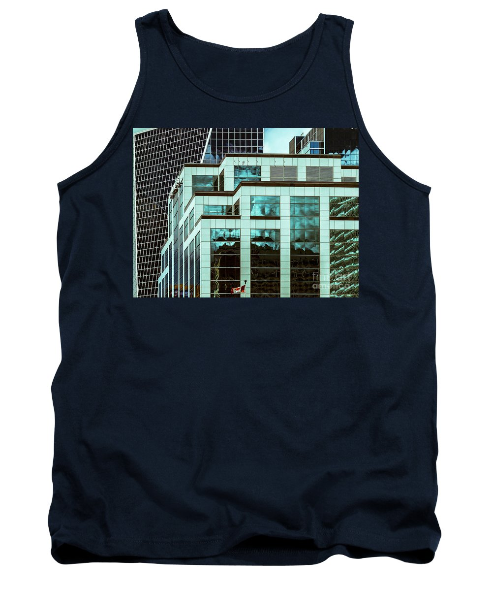 Reflections Tank Top featuring the photograph City Center -85 by David Fabian