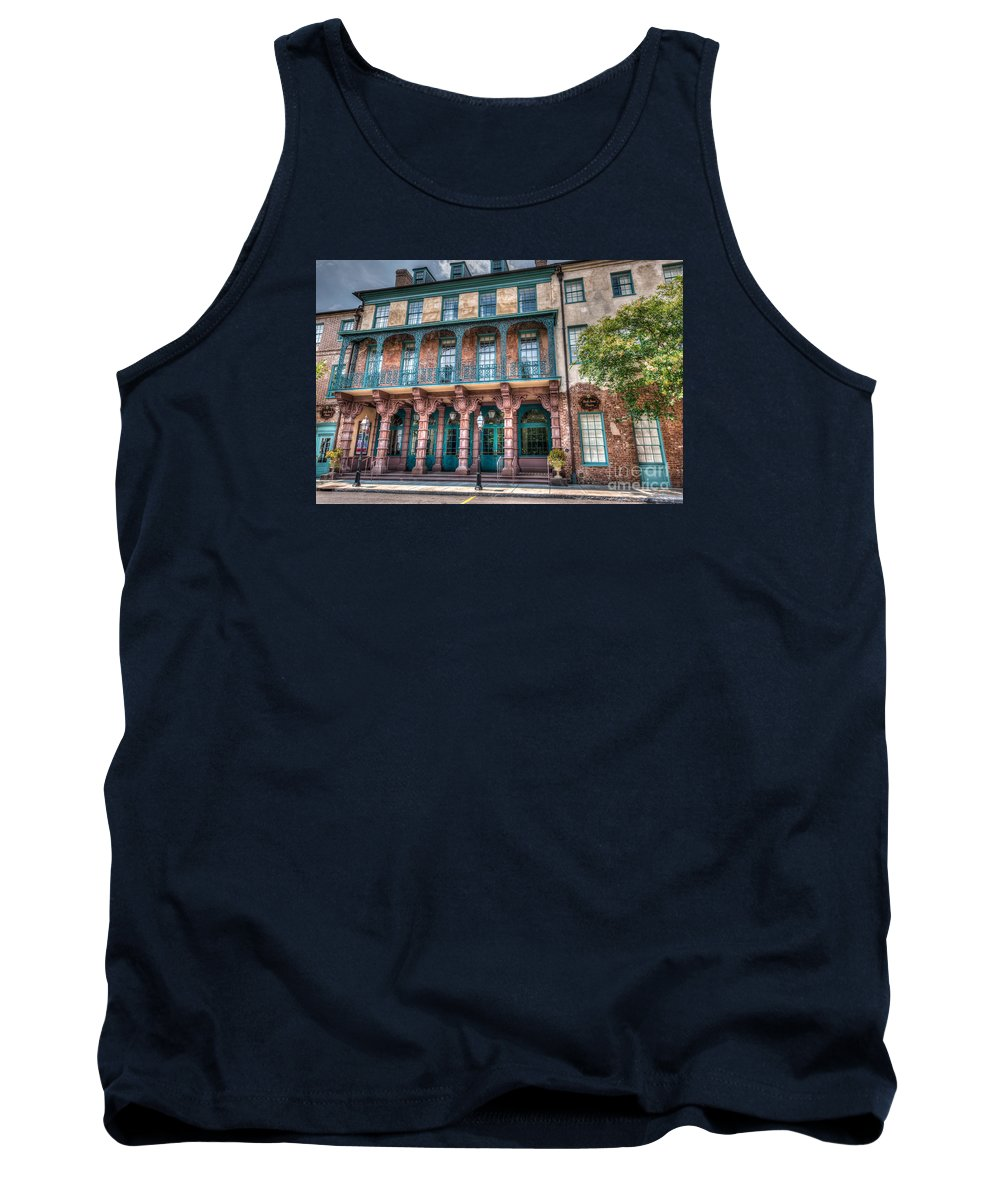 Doc Street Theatre Tank Top featuring the photograph Doc Street Theatre by Dale Powell