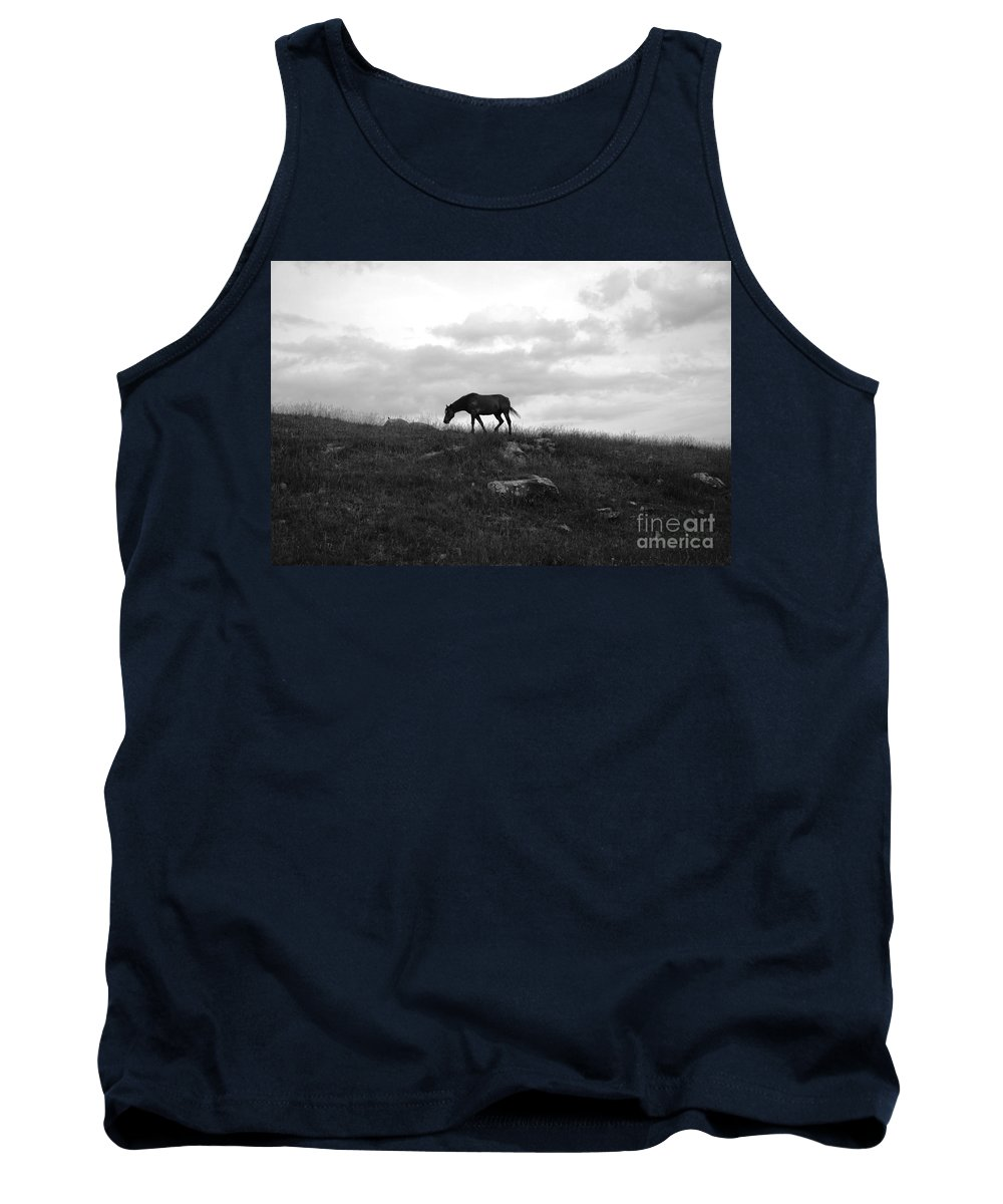 Black & White Tank Top featuring the photograph Freedom by Deanna Cagle