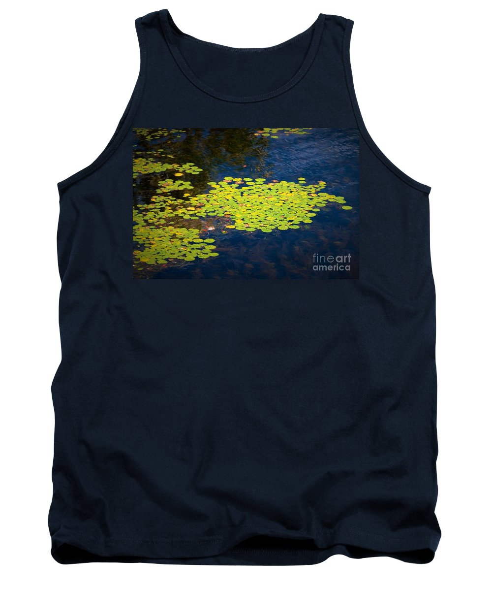 Water Lily Tank Top featuring the photograph Lily Pads by Les Palenik