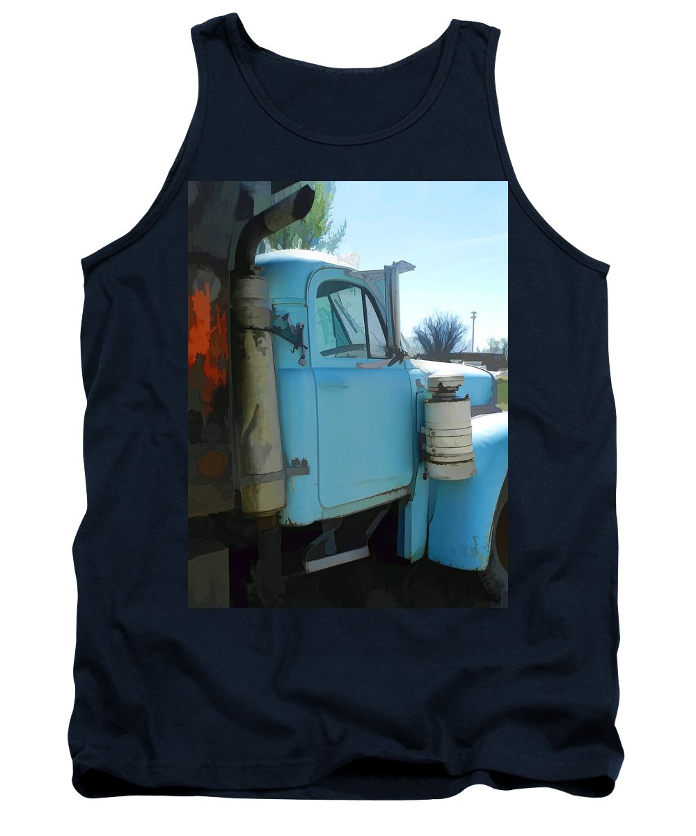 Vintage Mack Truck Tank Top featuring the photograph Mack Truck by Cathy Anderson