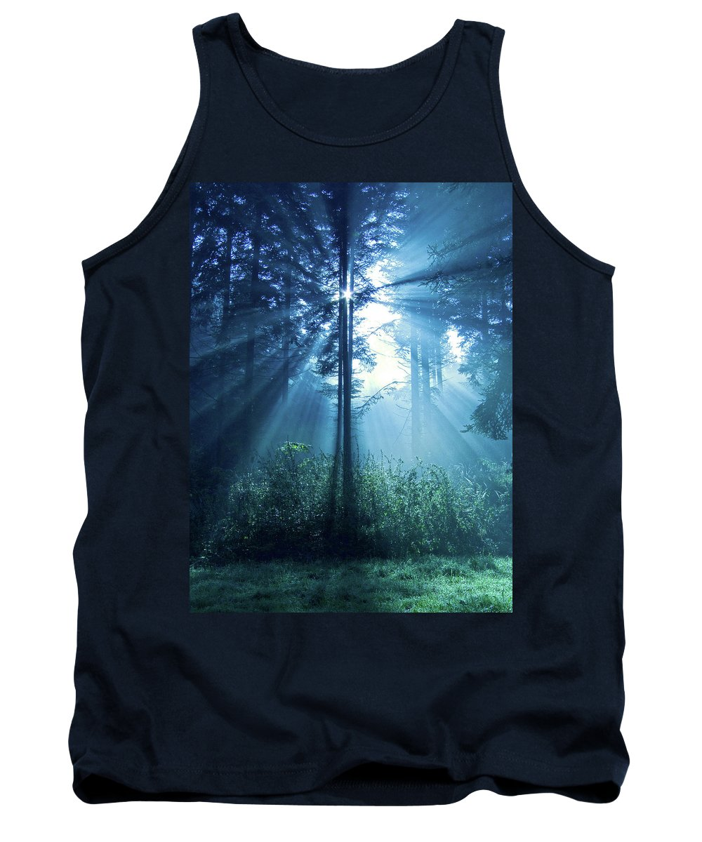 Nature Tank Top featuring the photograph Magical Light by Daniel Csoka
