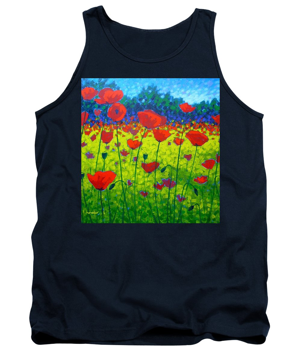 Flowers Tank Top featuring the painting Poppy Field by John Nolan