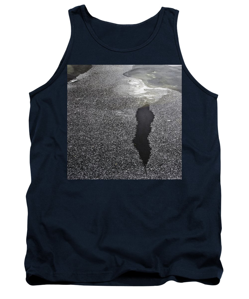 Ice Tank Top featuring the photograph River Ice by David Stone