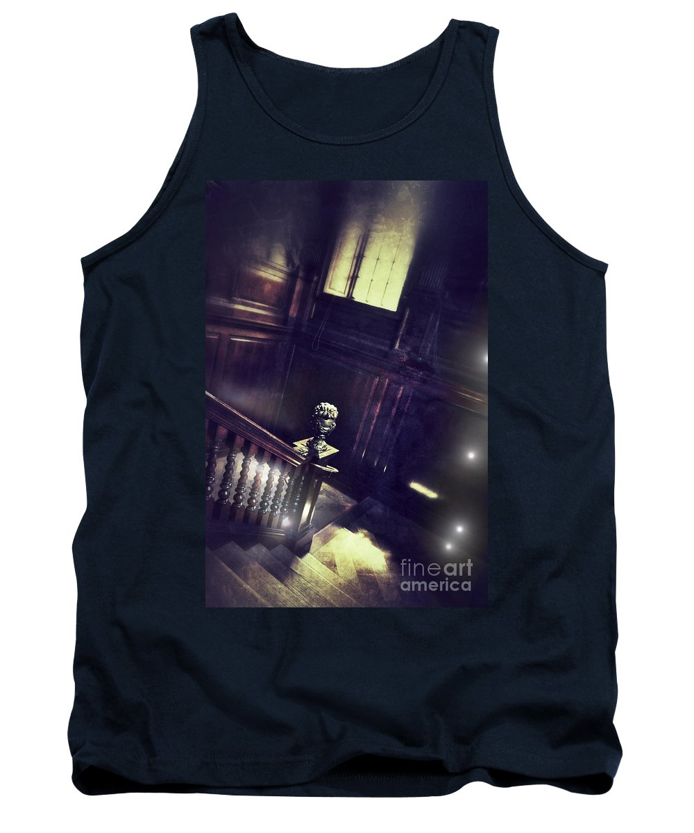 Stairs Tank Top featuring the photograph Spooky Stairway by Jill Battaglia