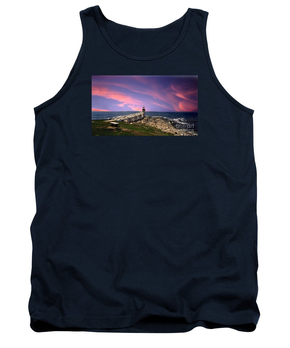Lighthouses Tank Top featuring the photograph Sunrise by Skip Willits