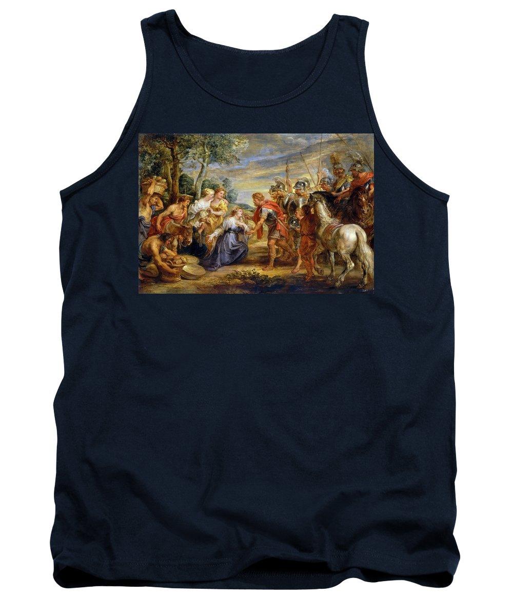 Peter Paul Rubens Tank Top featuring the painting The Meeting Of David And Abigail by Peter Paul Rubens