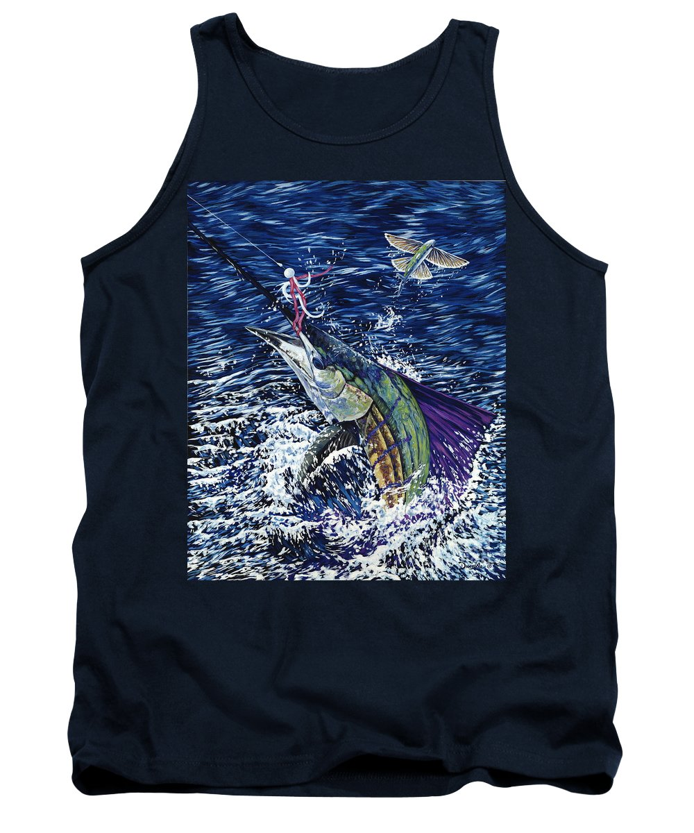 Sailfish Tank Top featuring the painting Top Sail by Danielle Perry