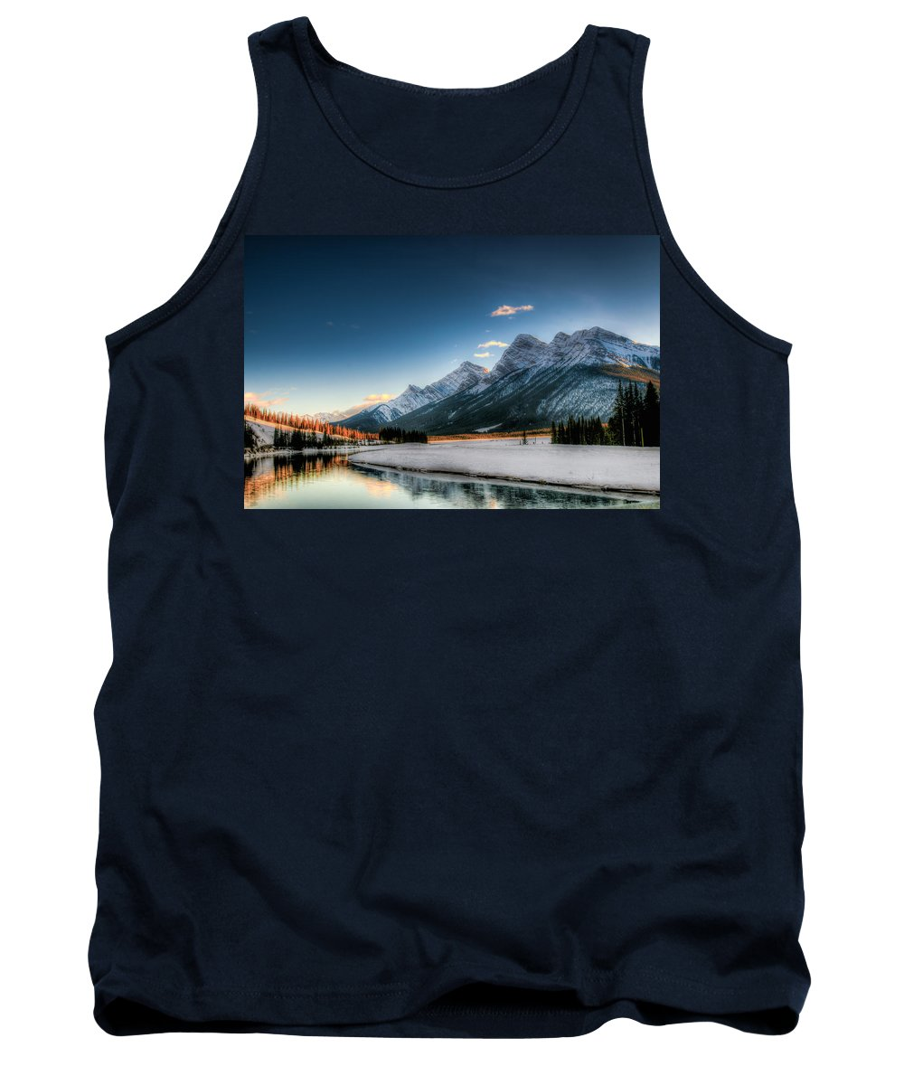 Alberta Tank Top featuring the photograph Winter In The Mountains by Brandon Smith