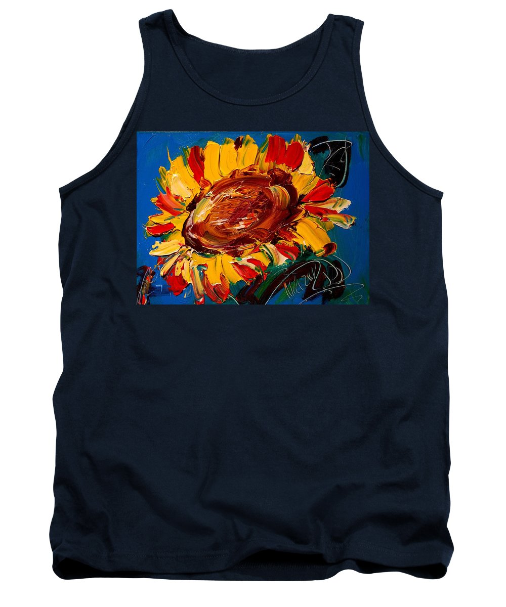 Tank Top featuring the painting Flowers by Mark Kazav