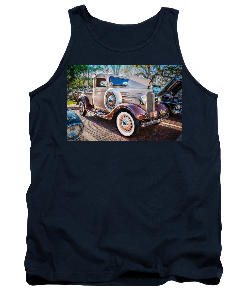 1936 Chevrolet Tank Top featuring the photograph 1936 Chevrolet Pick Up Truck Painted  by Rich Franco