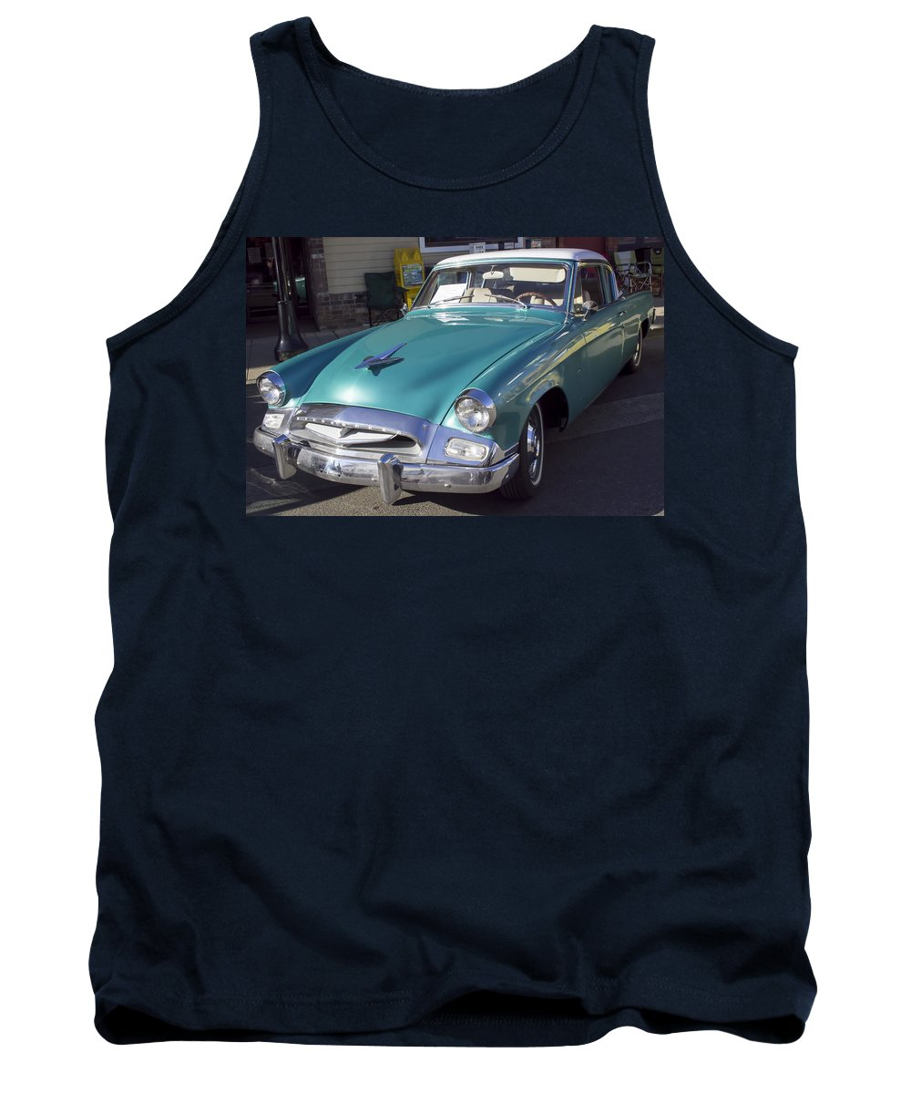 1955 Studebaker Tank Top featuring the photograph 1955 Studebaker Coupe 1 by Cathy Anderson