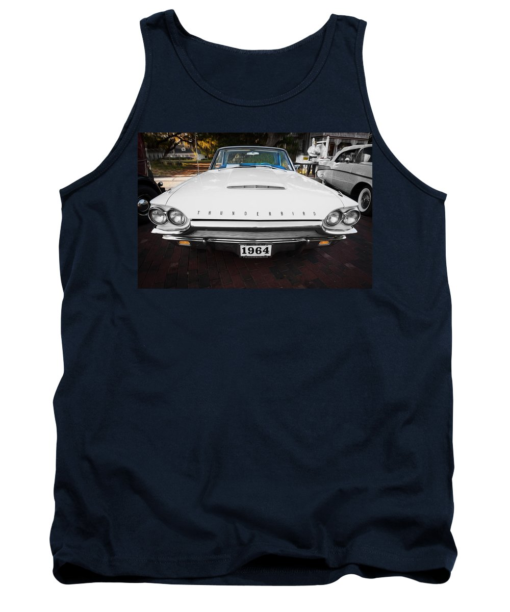 1964 Ford Thunderbird Tank Top featuring the photograph 1964 Ford Thunderbird Painted by Rich Franco