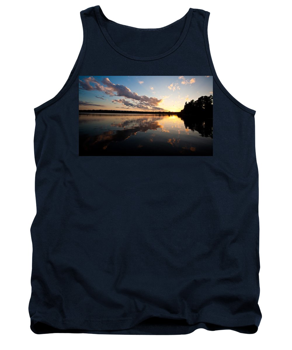 Greenlake Tank Top featuring the photograph Greenlake Sunset by Mike Reid