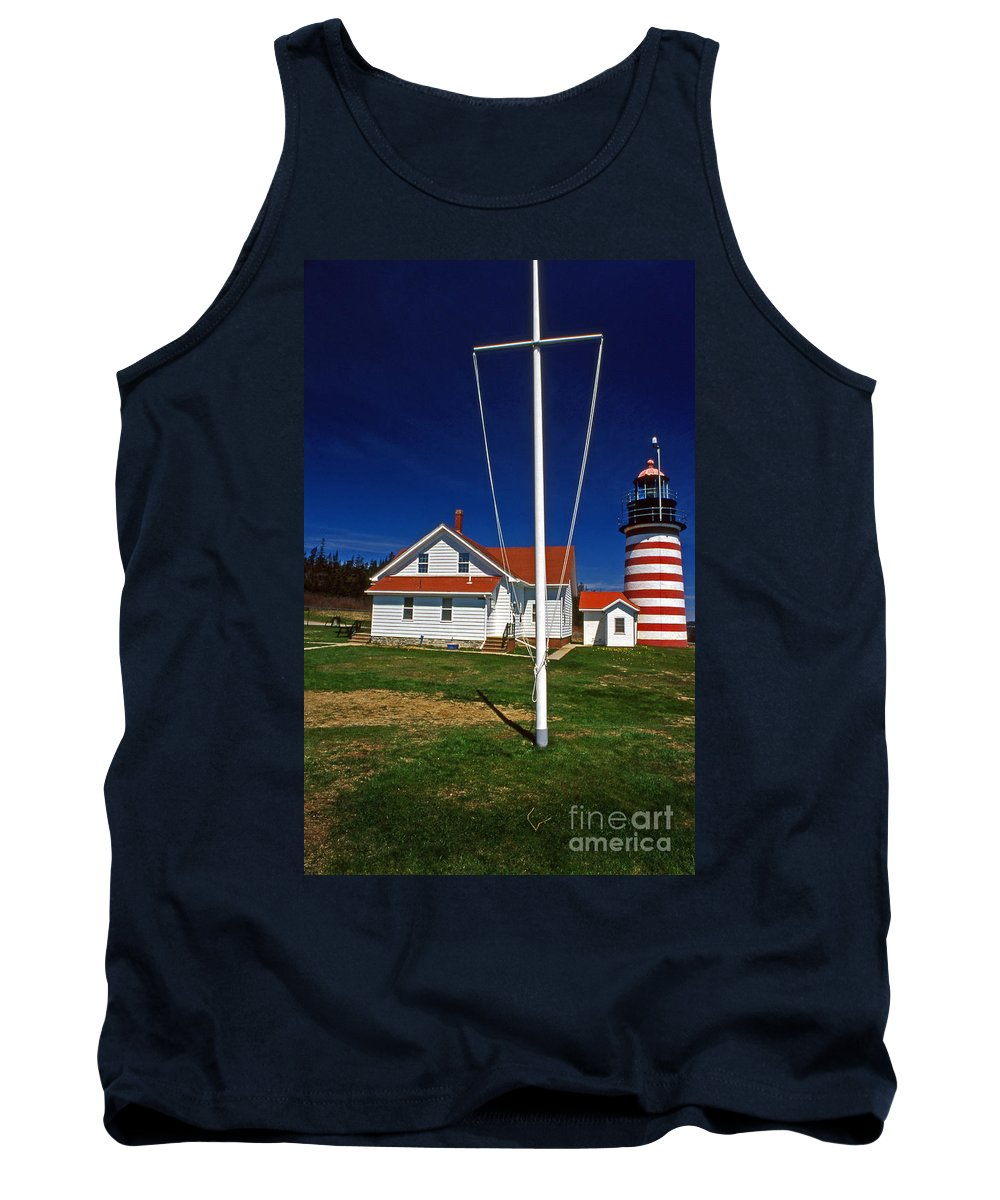 Lighthouses Tank Top featuring the photograph West Quoddy Lighthouse by Skip Willits