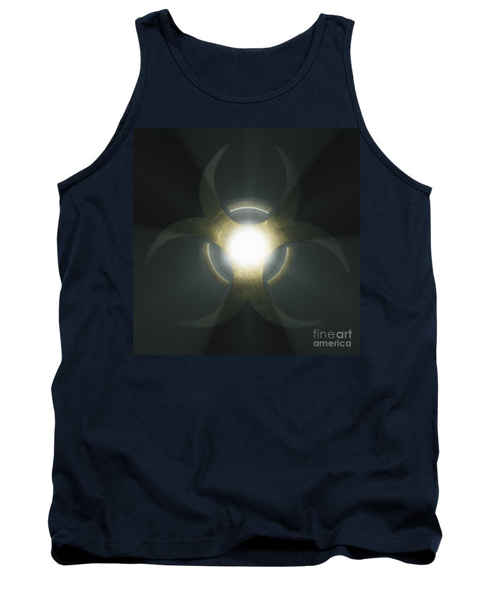 Biological Threat Tank Top featuring the photograph Biohazard Symbol by Science Picture Co