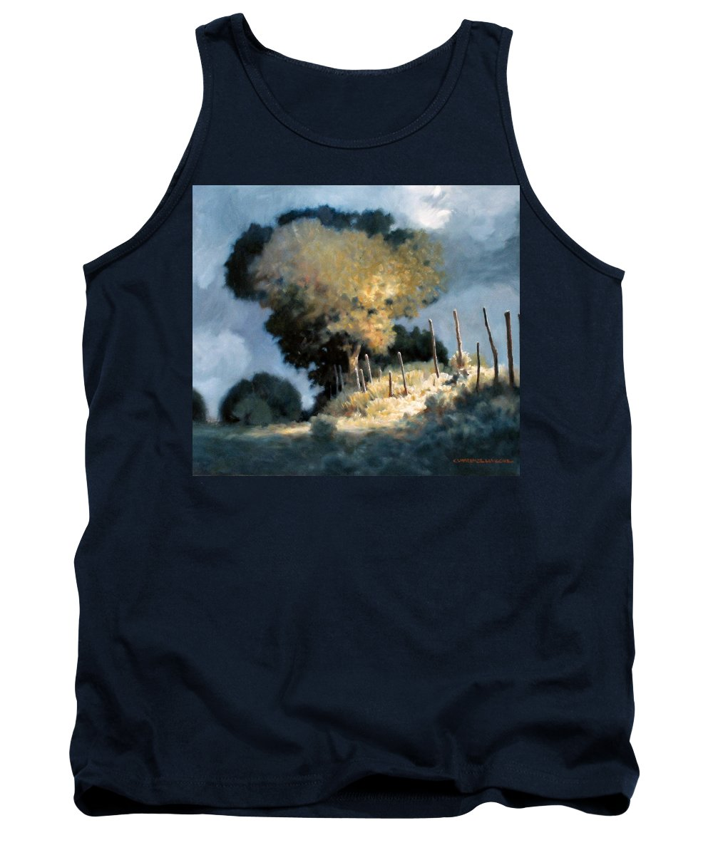 Trees Tank Top featuring the painting Sun Garden by Kevin Lawrence Leveque