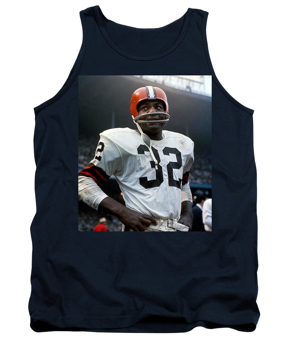 Nfl Prints Tank Top featuring the photograph #32 Jim Brown by R A W M