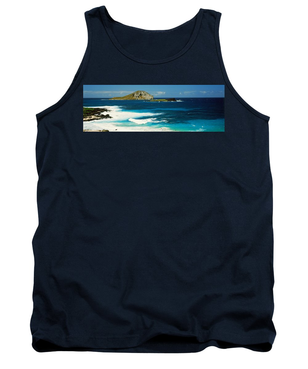 Photography Tank Top featuring the photograph Surf On The Beach, Oahu, Hawaii, Usa by Panoramic Images