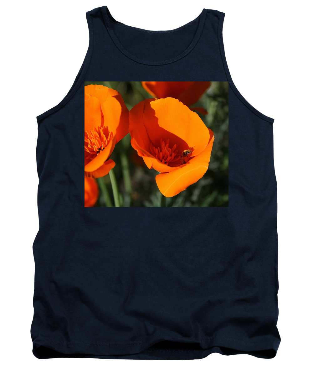 California Poppies Tank Top featuring the painting California Poppies by Ellen Henneke