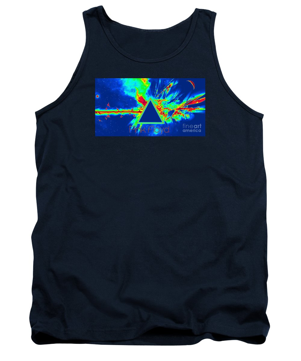 Pink Floyd_richard John Holden Tank Top featuring the painting Pink Floyd by Richard John Holden RA
