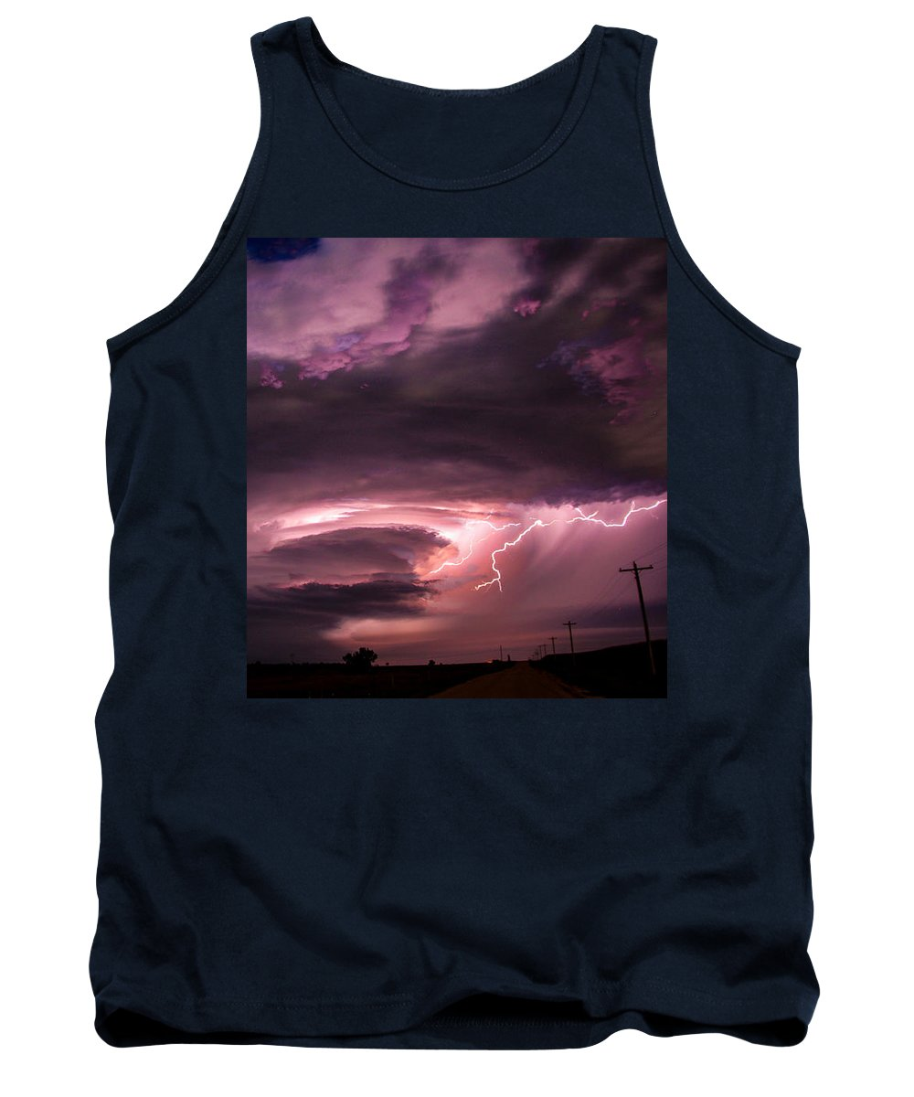 Stormscape Tank Top featuring the photograph Wicked Good Nebraska Supercell by NebraskaSC