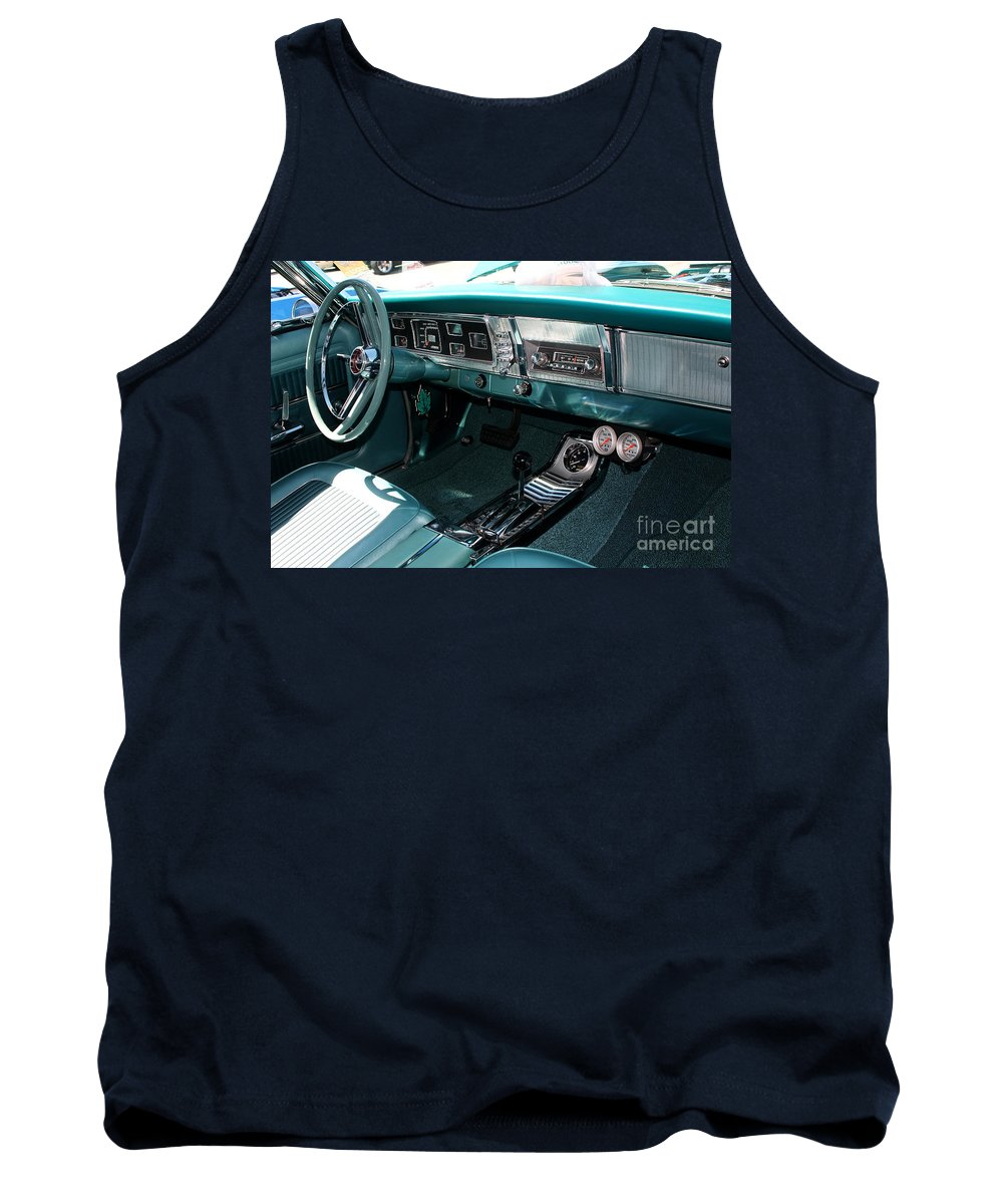 1965 Tank Top featuring the photograph 65 Plymouth Satellite Interior-8499 by Gary Gingrich Galleries