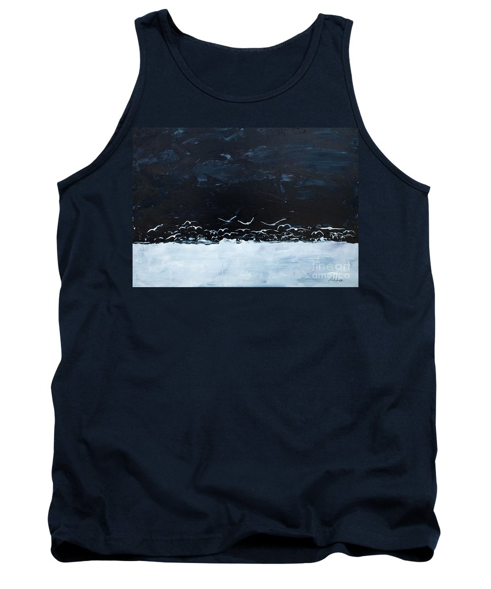 Wild Geese Tank Top featuring the painting A Journey by Lidija Ivanek - SiLa