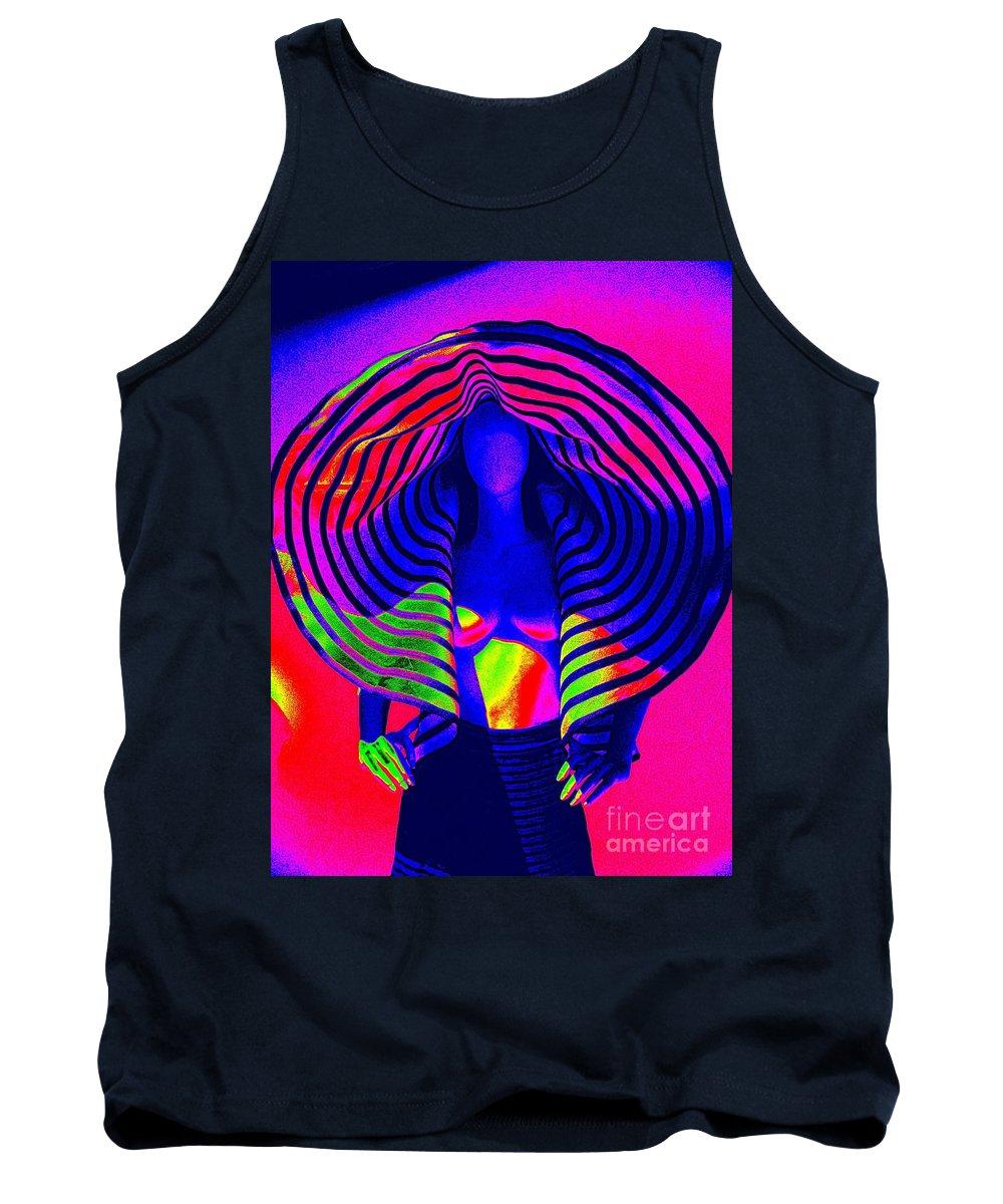 Fashion Tank Top featuring the digital art A Pop Of Gaultier by Ed Weidman