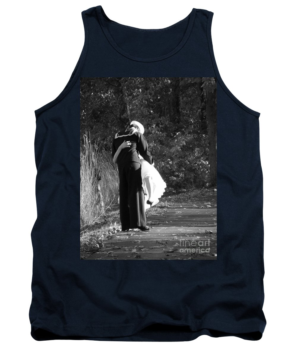 Wedding Tank Top featuring the photograph A Sailors Love by Jamie Smith