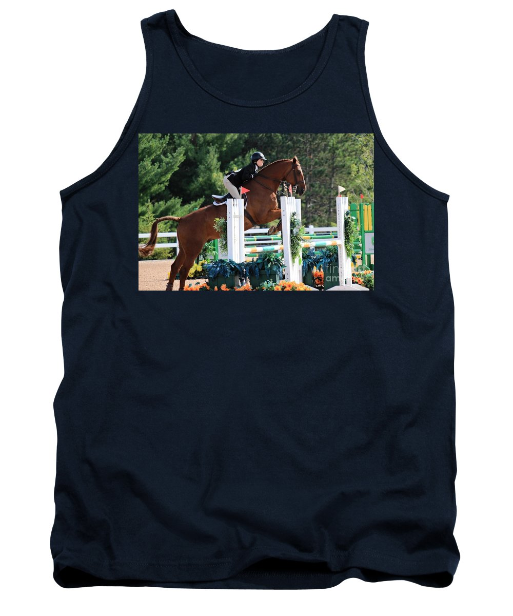 Horse Tank Top featuring the photograph Ac-medal21 by Janice Byer