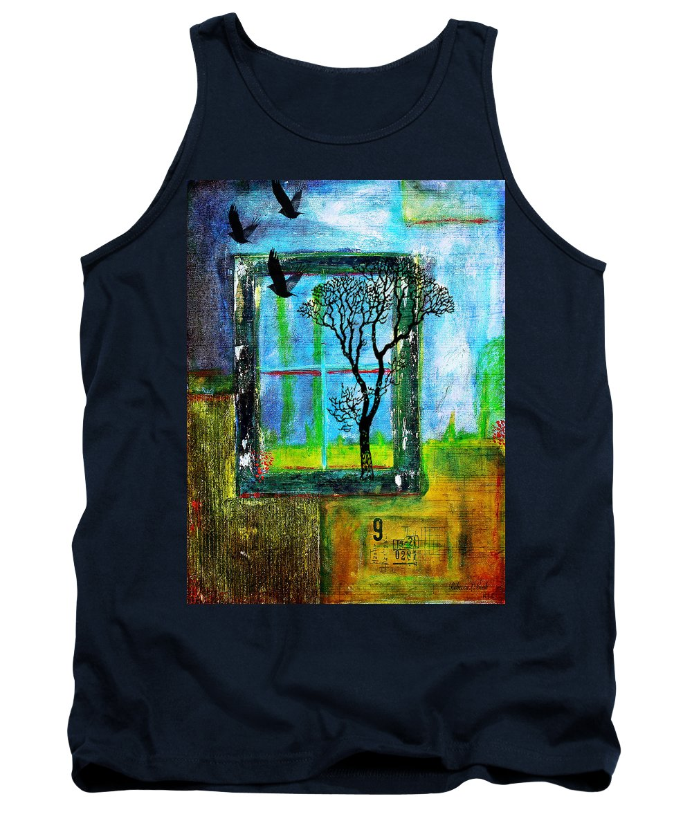 After They Left Tank Top featuring the painting After They Left by Bellesouth Studio