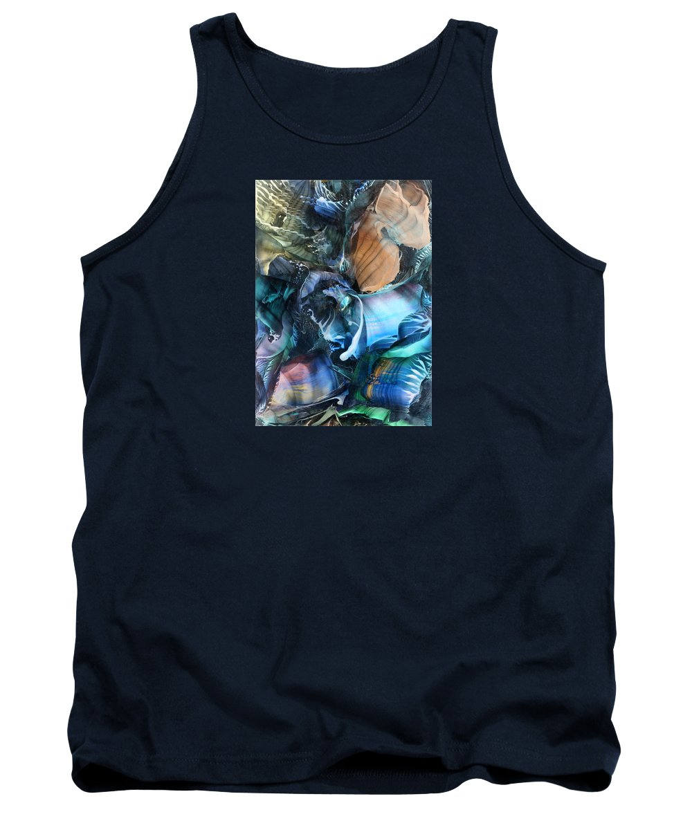 Original Tank Top featuring the painting Akashic Memories From Subsurface by Cristina Handrabur