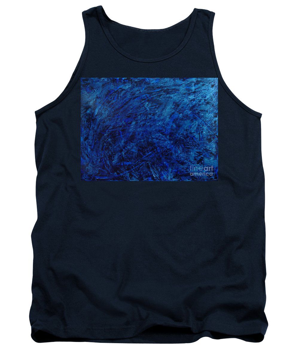 Abstract Tank Top featuring the painting Alans Call by Dean Triolo