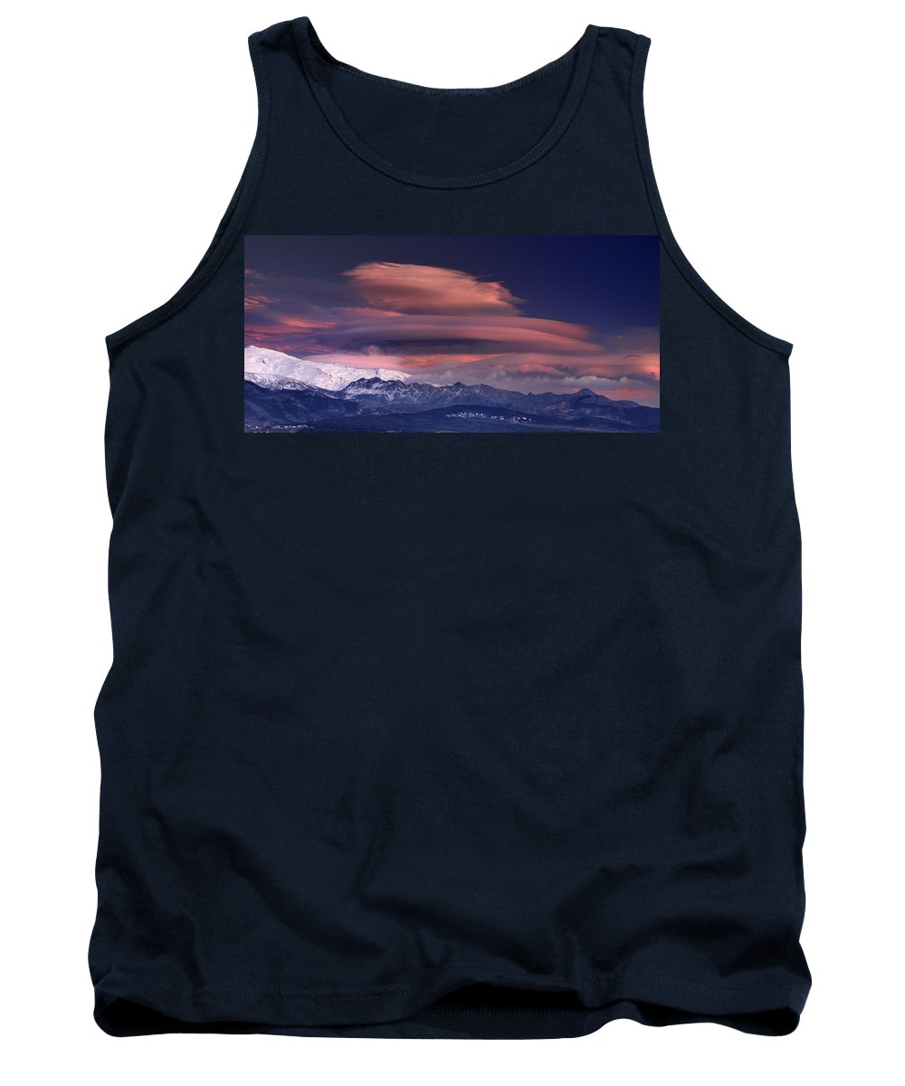 Sunset Tank Top featuring the photograph Alayos Mountains At Sunset In Sierra Nevada by Guido Montanes Castillo