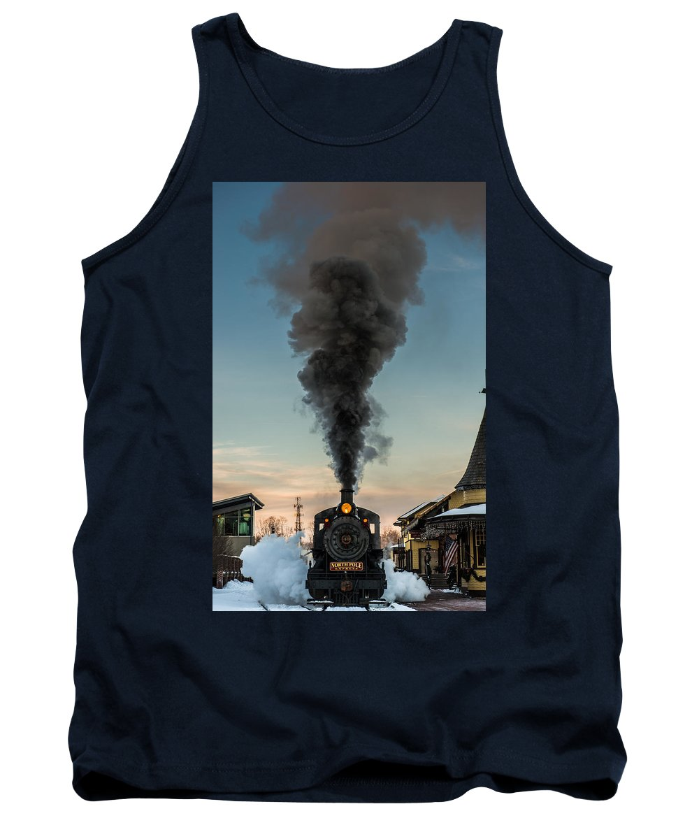 Steam Tank Top featuring the photograph All Aboard by Scott Hafer