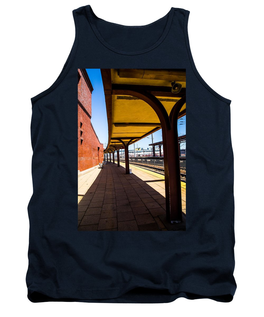 Alone At The Station Tank Top featuring the photograph Alone At The Station by Karol Livote
