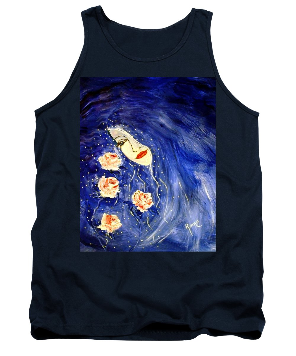 Love Tank Top featuring the painting And Her Love Grows... by Robin Monroe