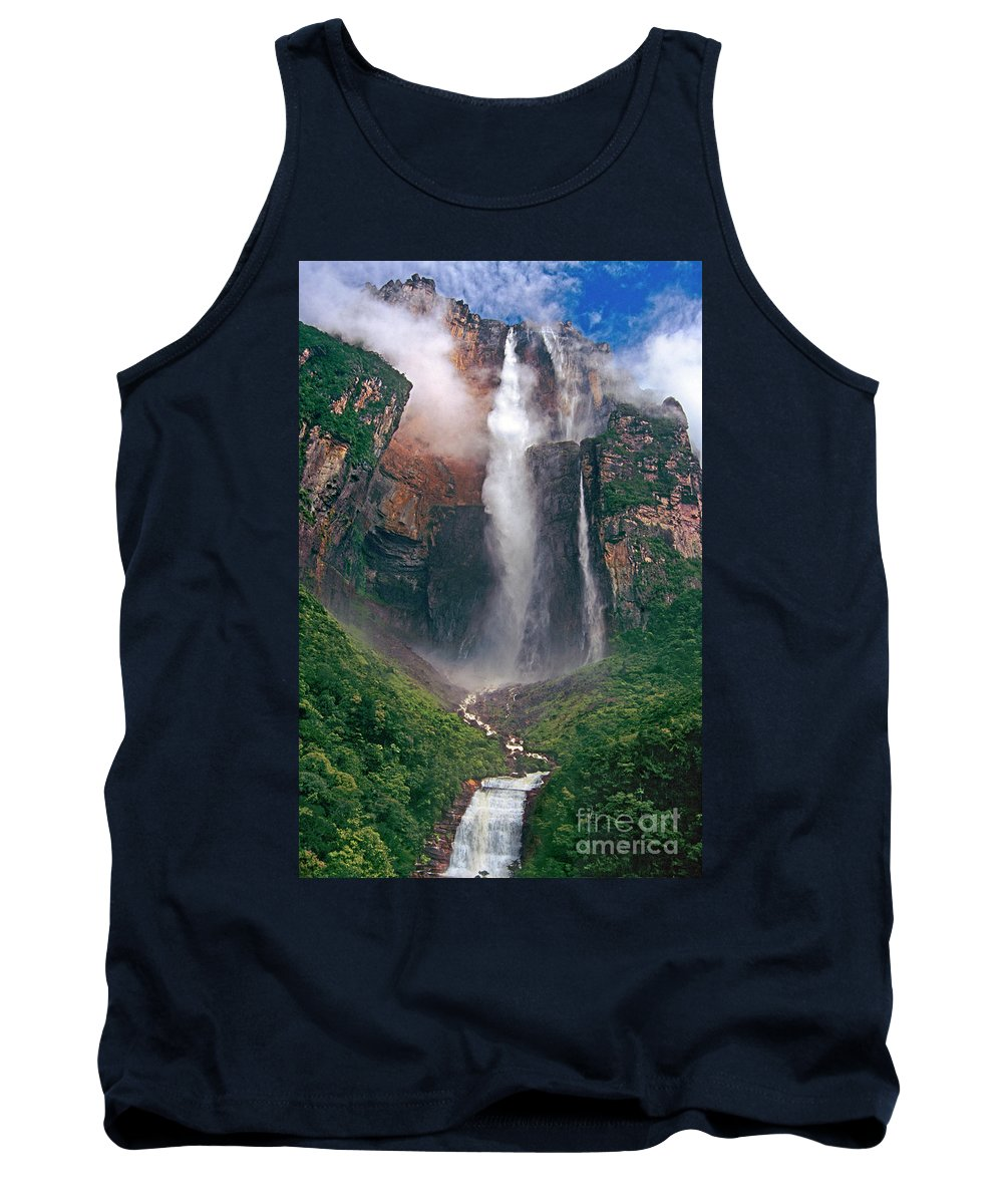 Angel Falls Tank Top featuring the photograph Angel Falls In Venezuela by Dave Welling