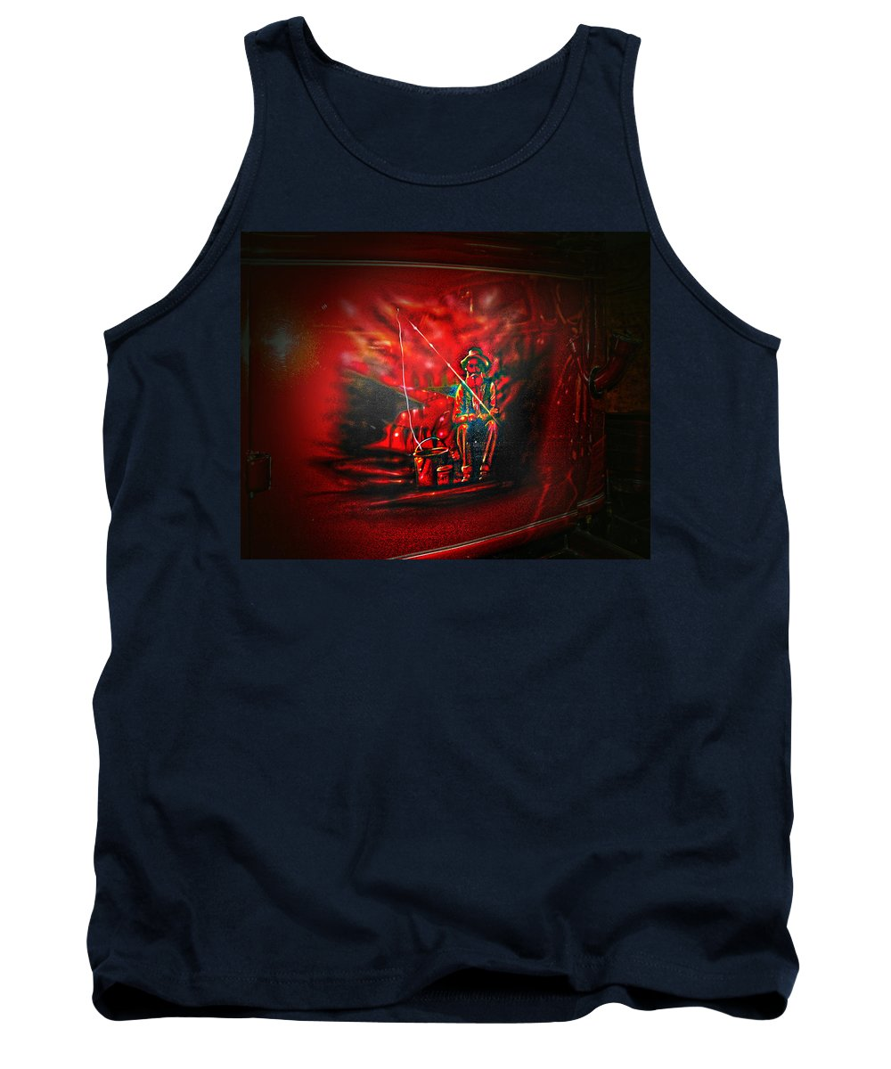 Artwork Tank Top featuring the photograph Art Work On Old Ford Truck by Randall Branham