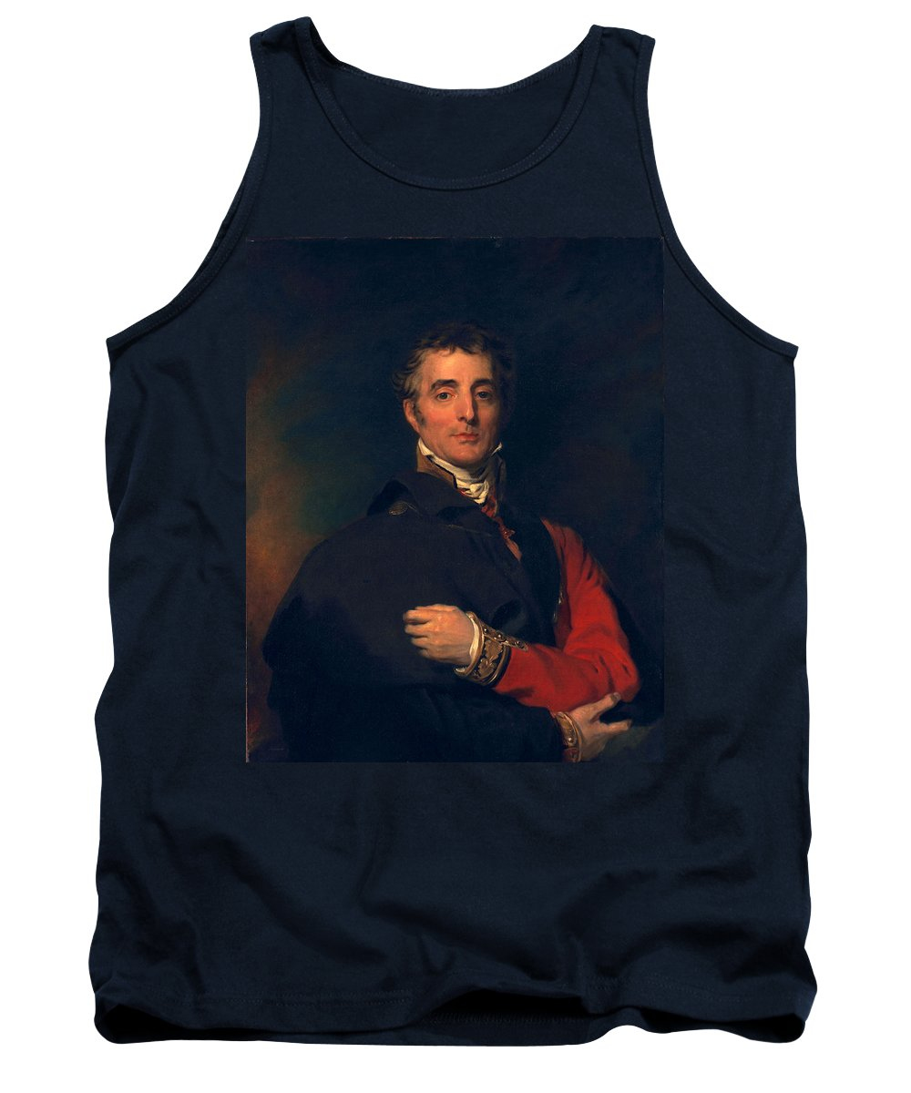Male Tank Top featuring the painting Arthur Wellesley, Duke Of Wellington by Sir Thomas Lawrence
