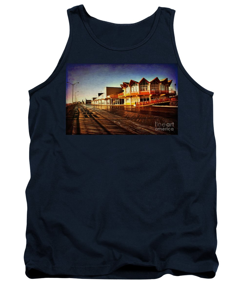 Asbury Park Tank Top featuring the photograph Asbury In The Morning by Debra Fedchin