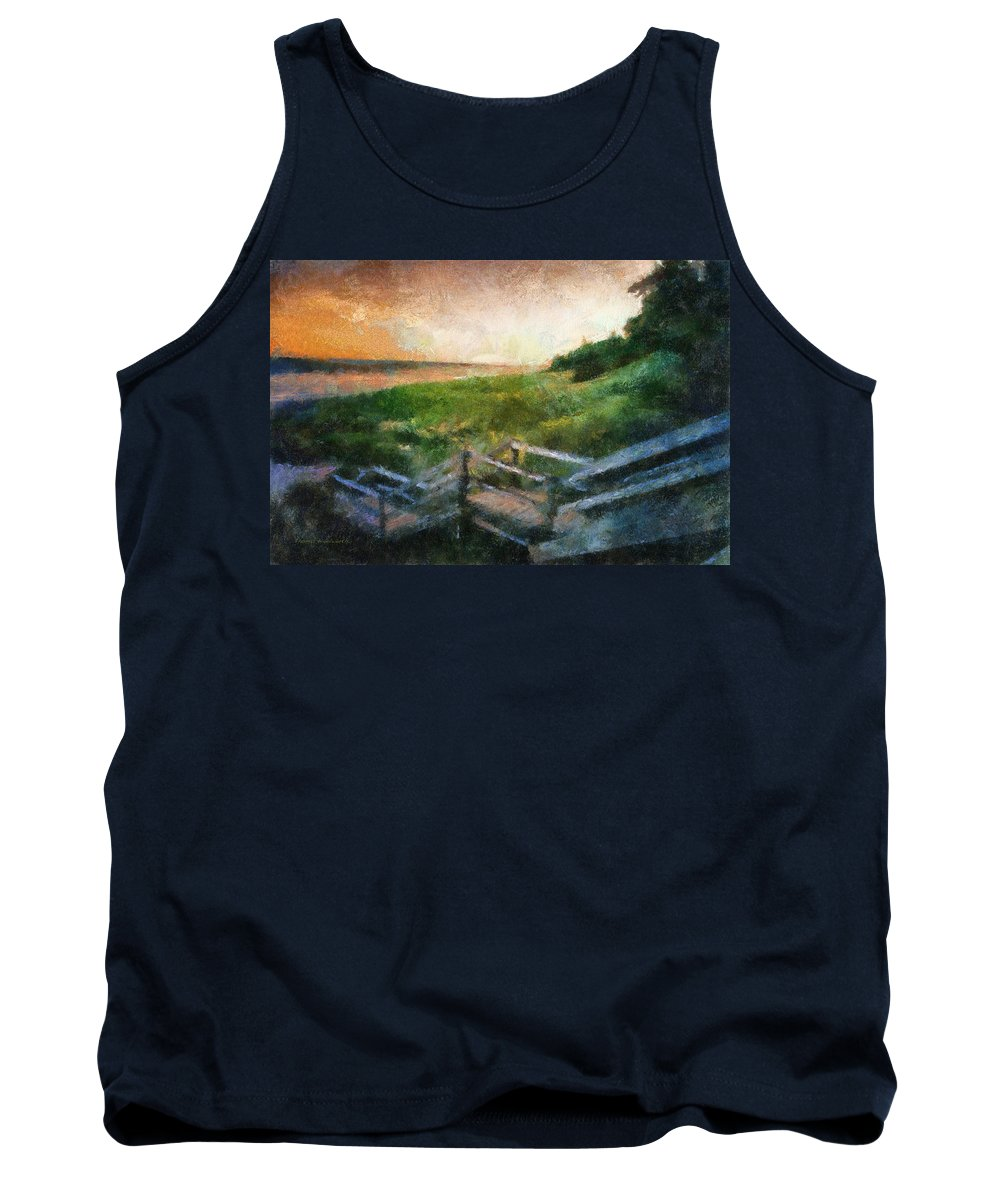 Ocean Tank Top featuring the photograph At The Beach Photo Art 02 by Thomas Woolworth